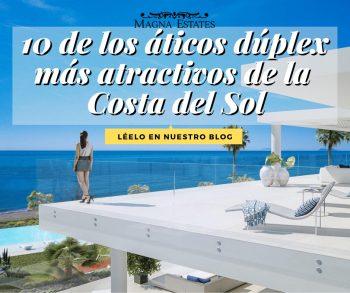 10 de los áticos dúplex más atractivos de la Costa del Sol