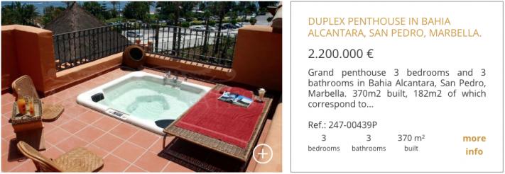 Duplex penthouse in Bahia Alcantara, San Pedro, Marbella