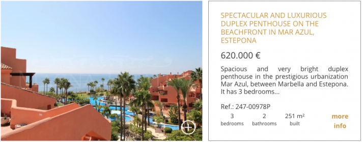 Spectacular and luxurious duplex penthouse on the beachfront in Mar Azul, Estepona