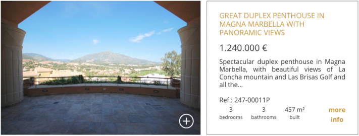 Properties for sale in Magna Marbella 2